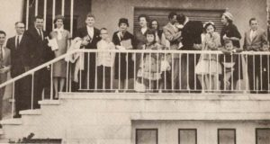 Opening service 1961 at IBC's first gathering place, Gregorio Beñitez, El Viso/Madrid.