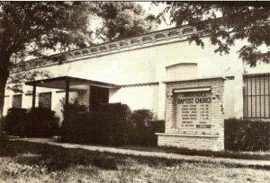 Immanuel Baptist Church facade in the seventies