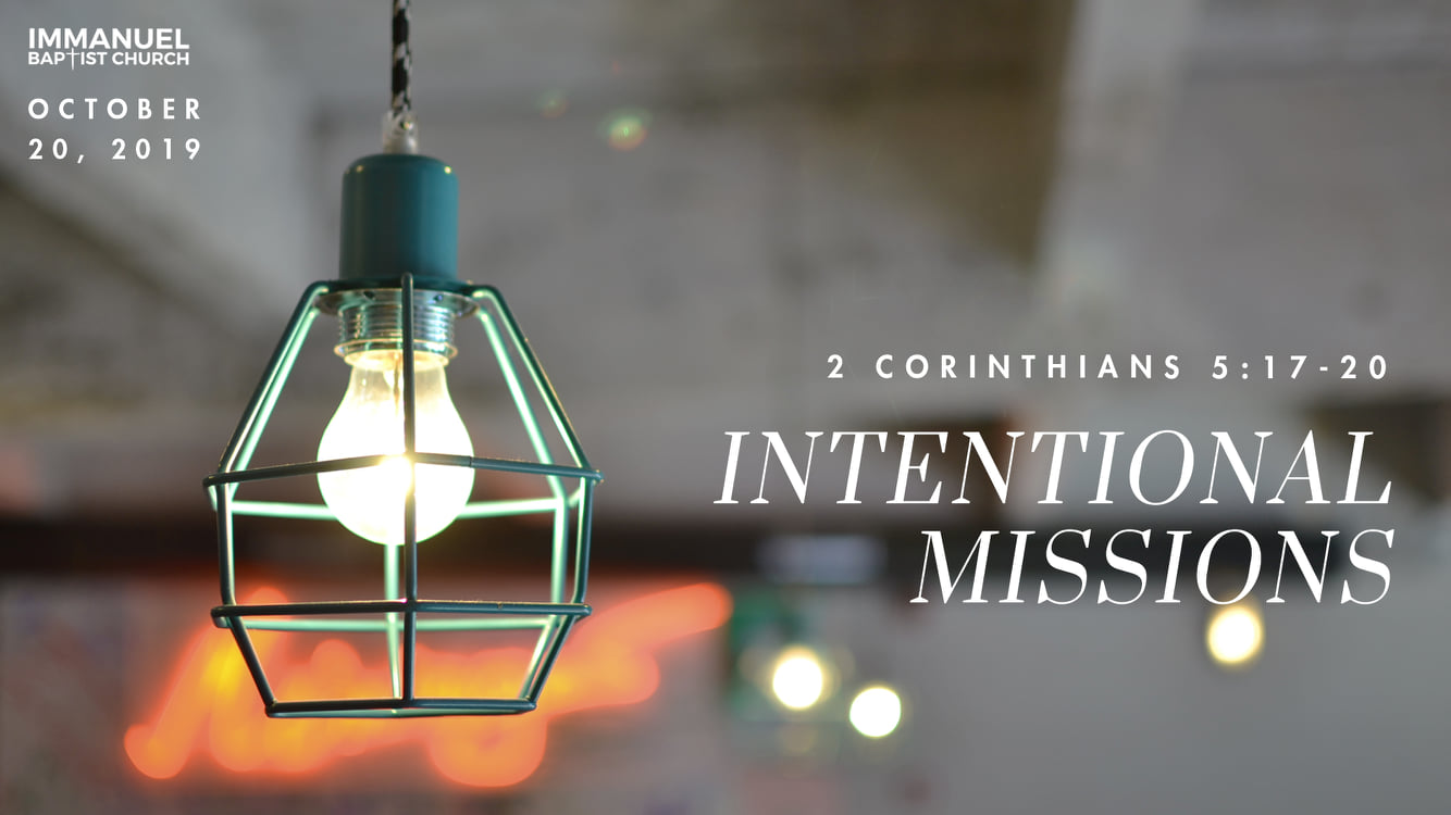 Intentional Missions (Missions: Part 3) Image