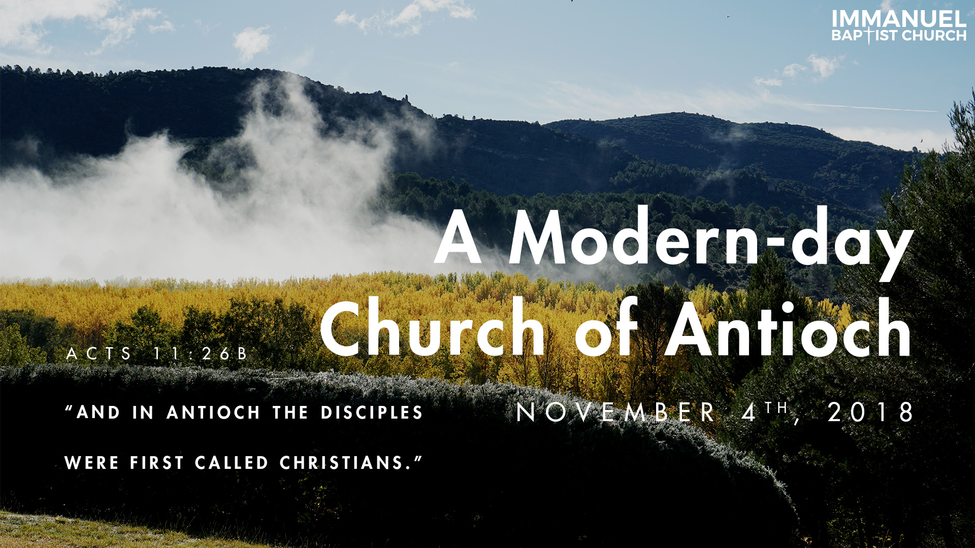 A Modern-day Church of Antioch Image