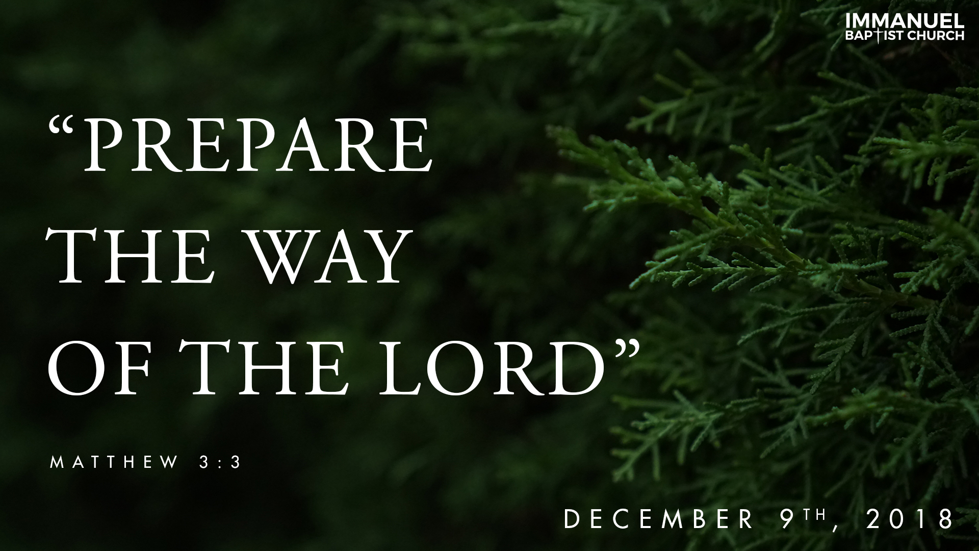 Prepare the Way for the Lord Image