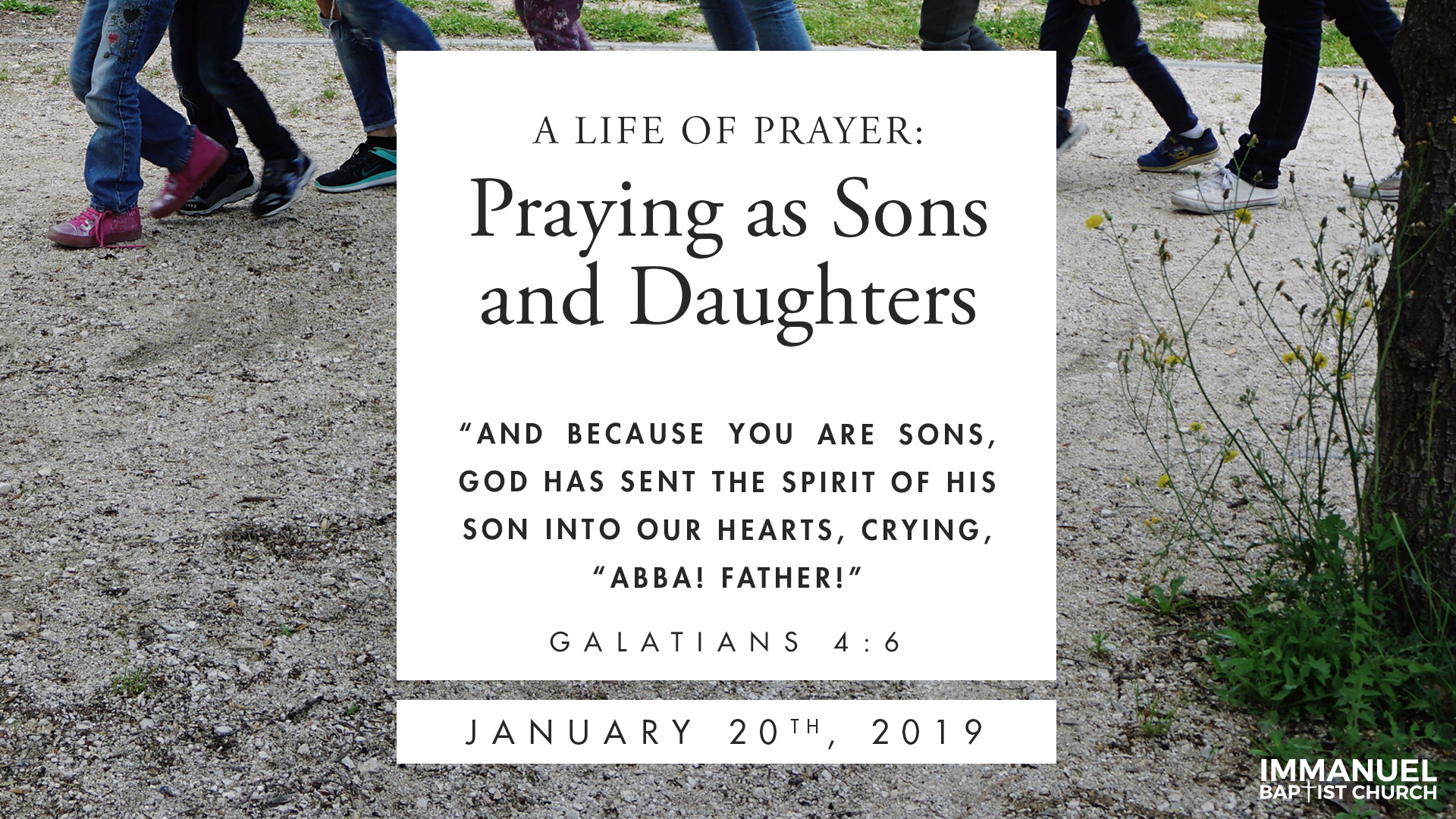 Praying like Sons and Daughters