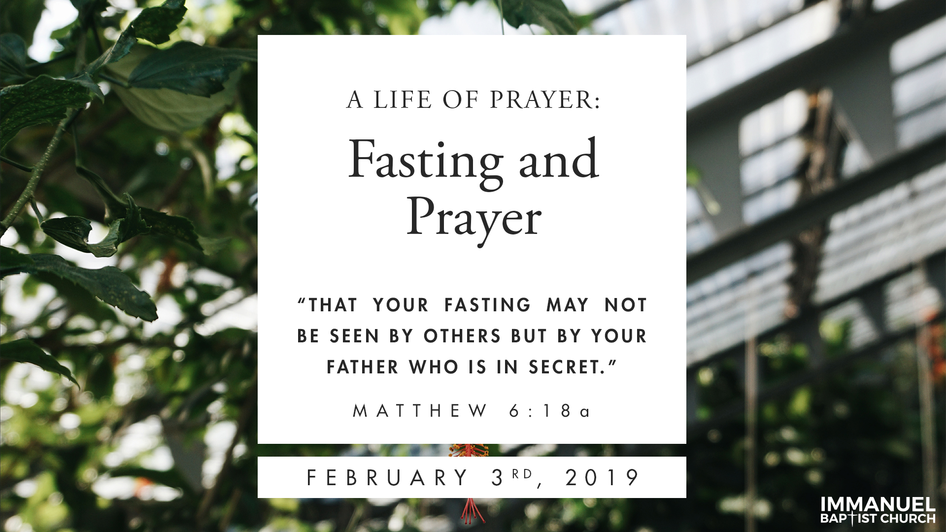 Fasting and Praying Image