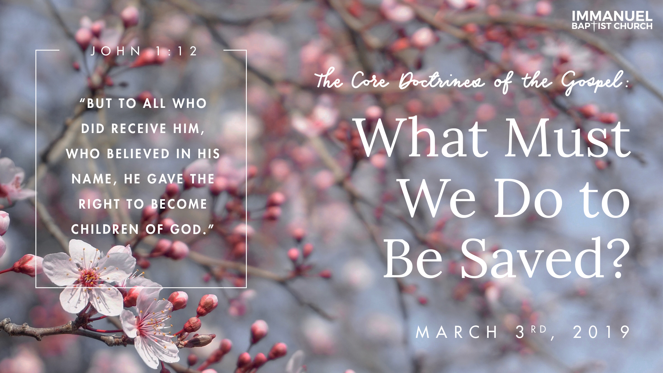 The Core Doctrines of the Gospel (Part 4): What Must I Do to Be Saved? Image