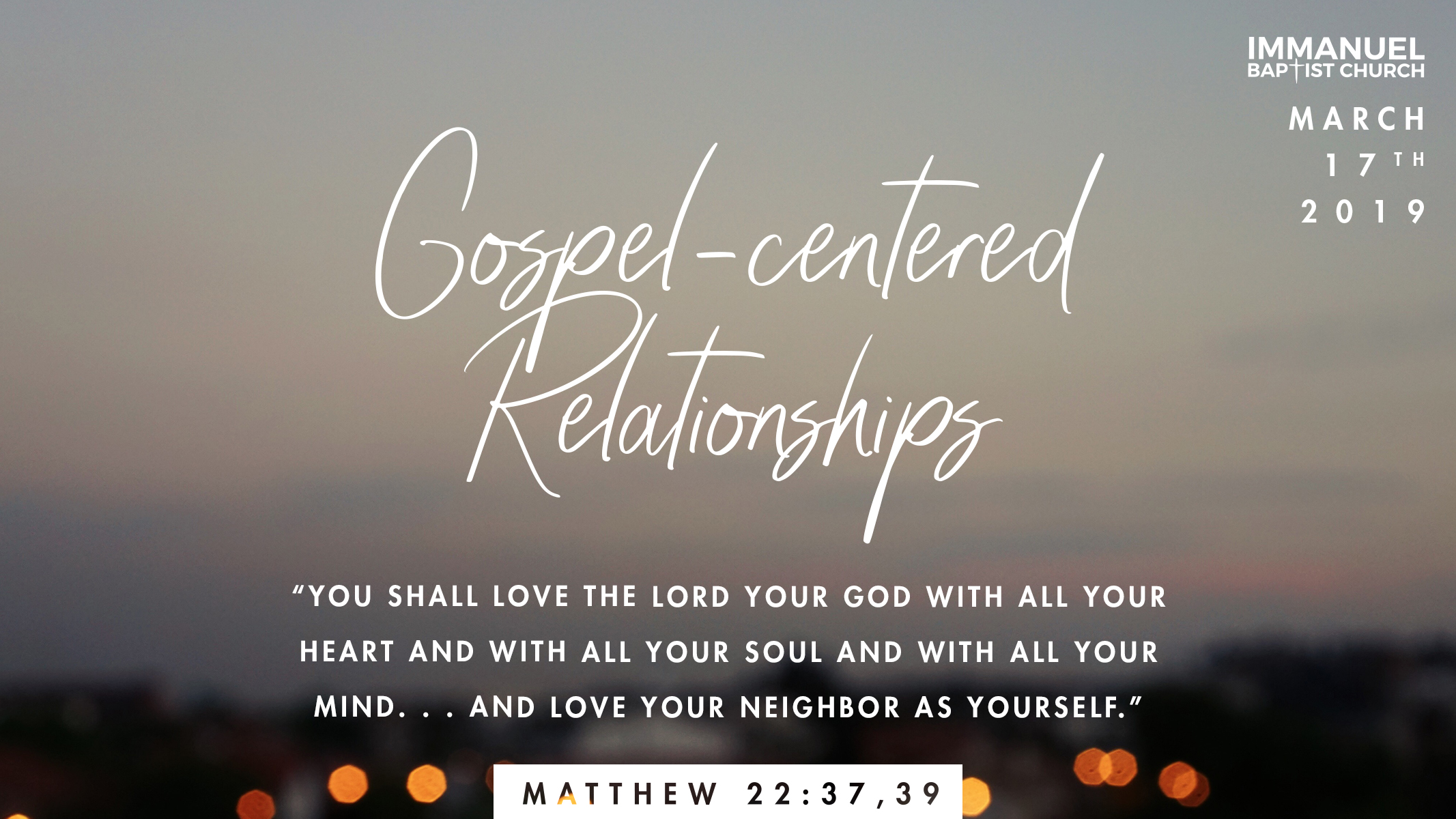 Gospel-Centered Relationships
