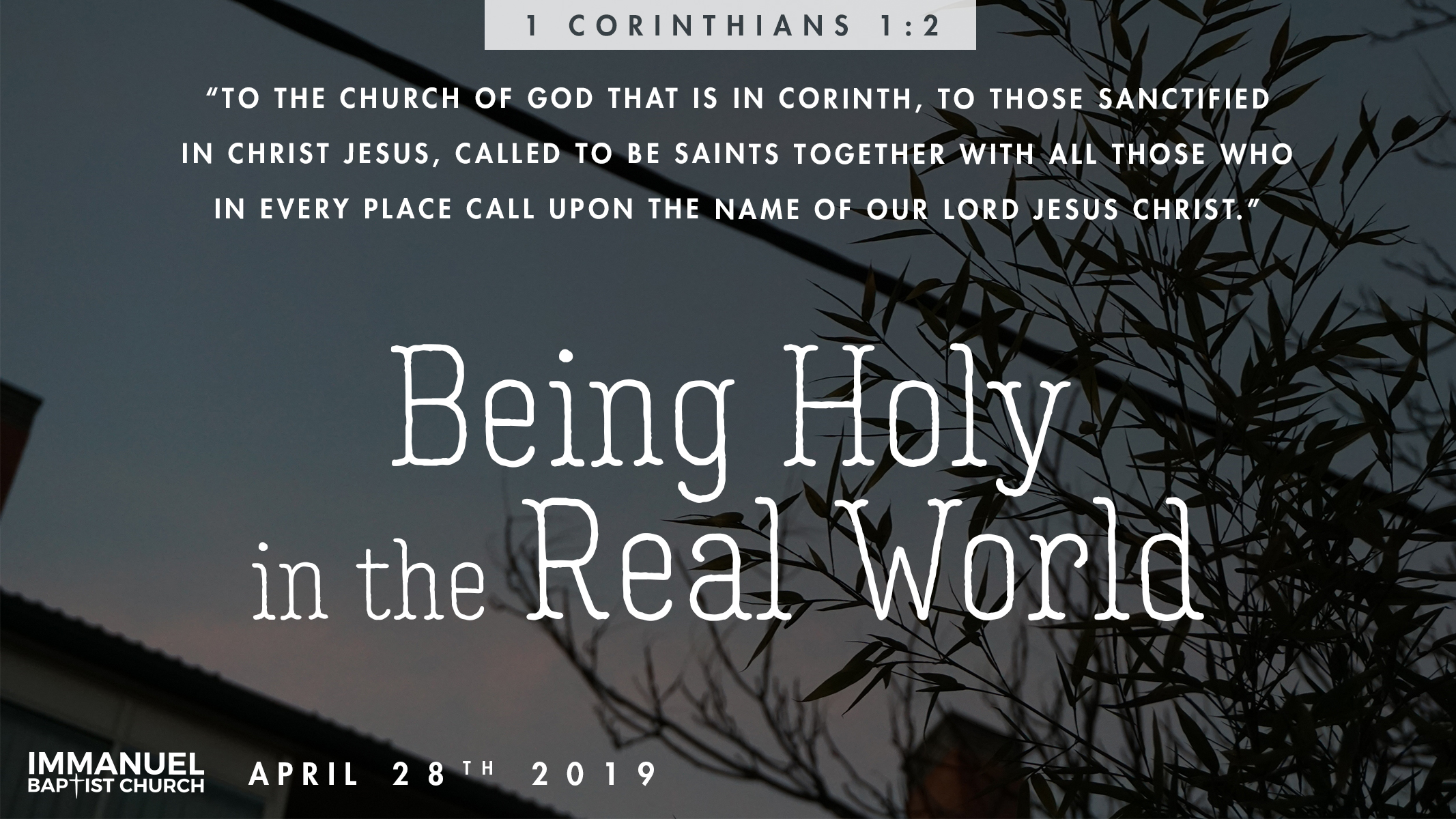 Being Holy in the Real World Image
