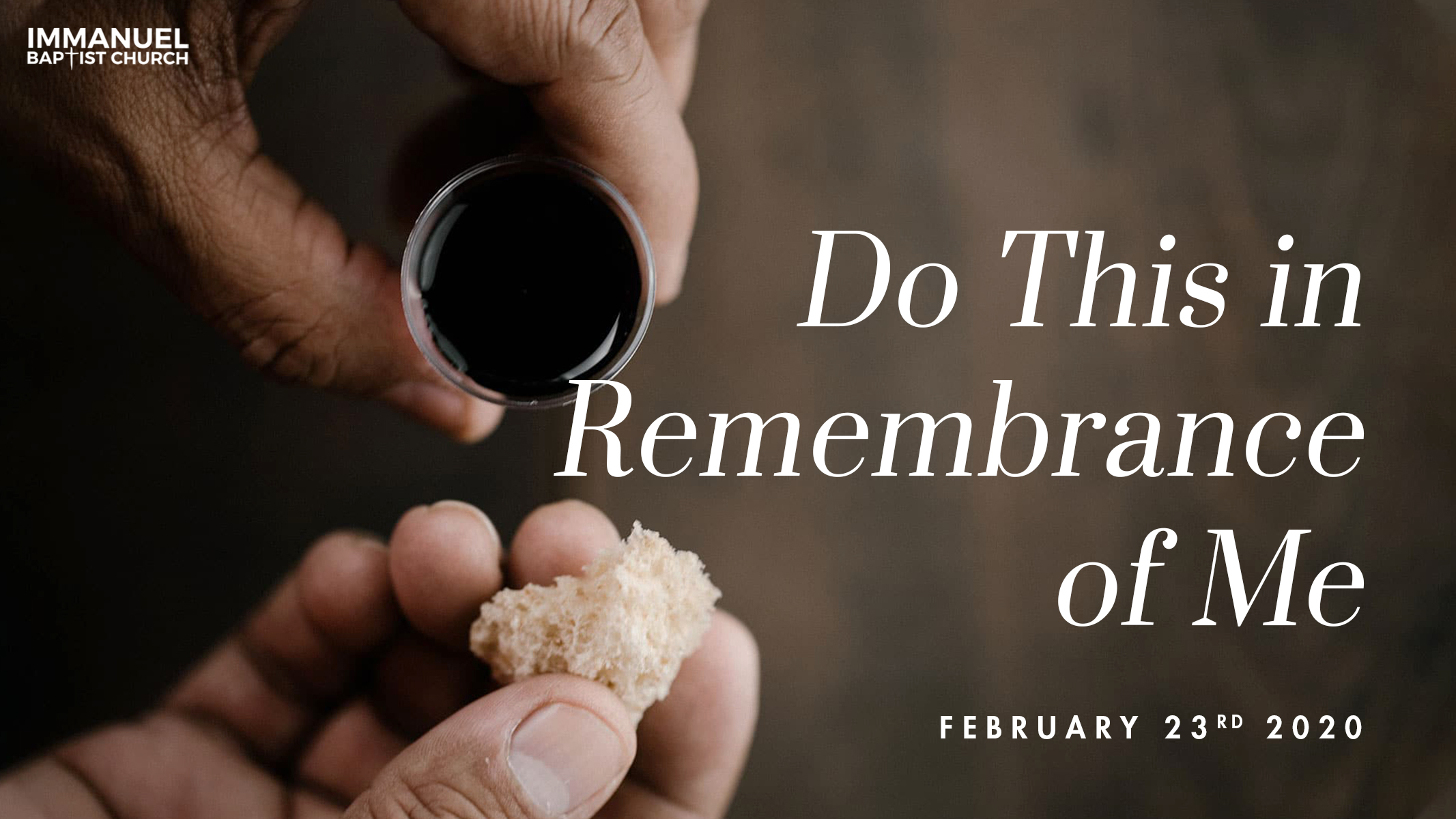 Do This in Remembrance of Me: The Body and Blood of Christ