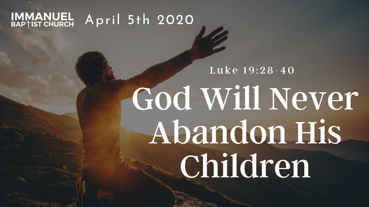 God Will Never Abandon His Children Image