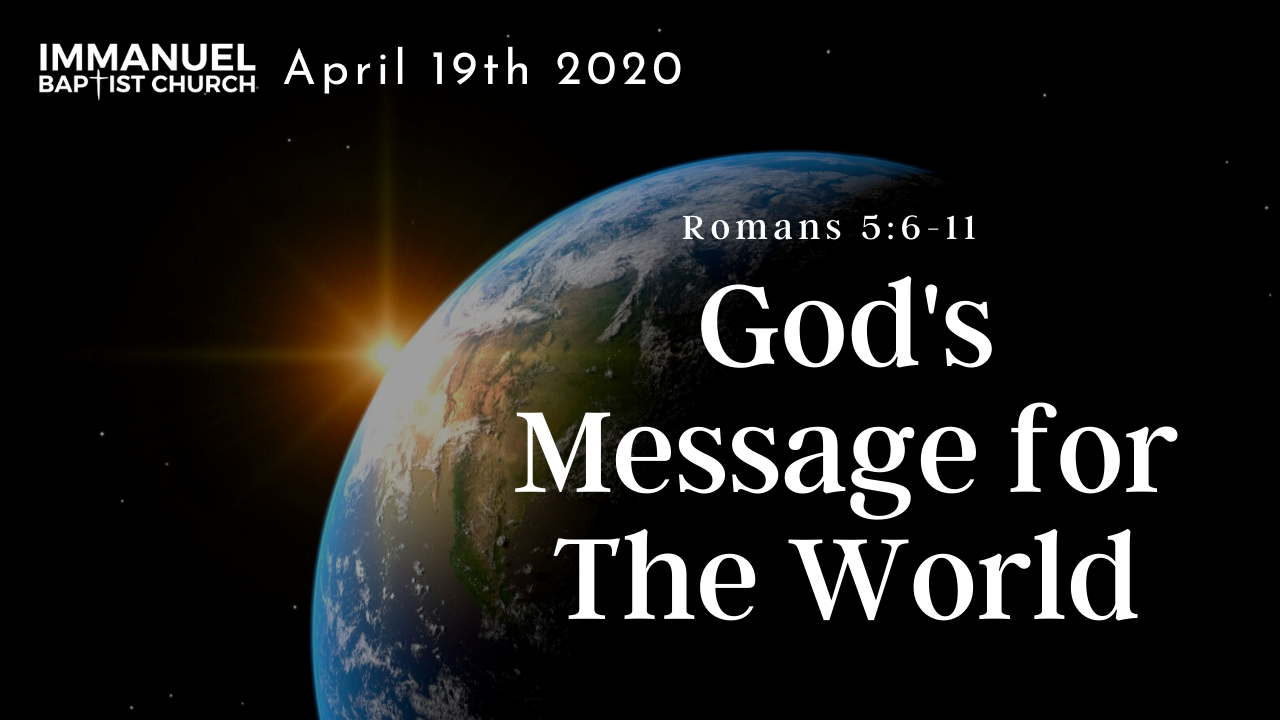 God's Message To the World Image