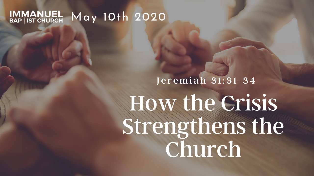 How the Crisis Strengthens the Church Image