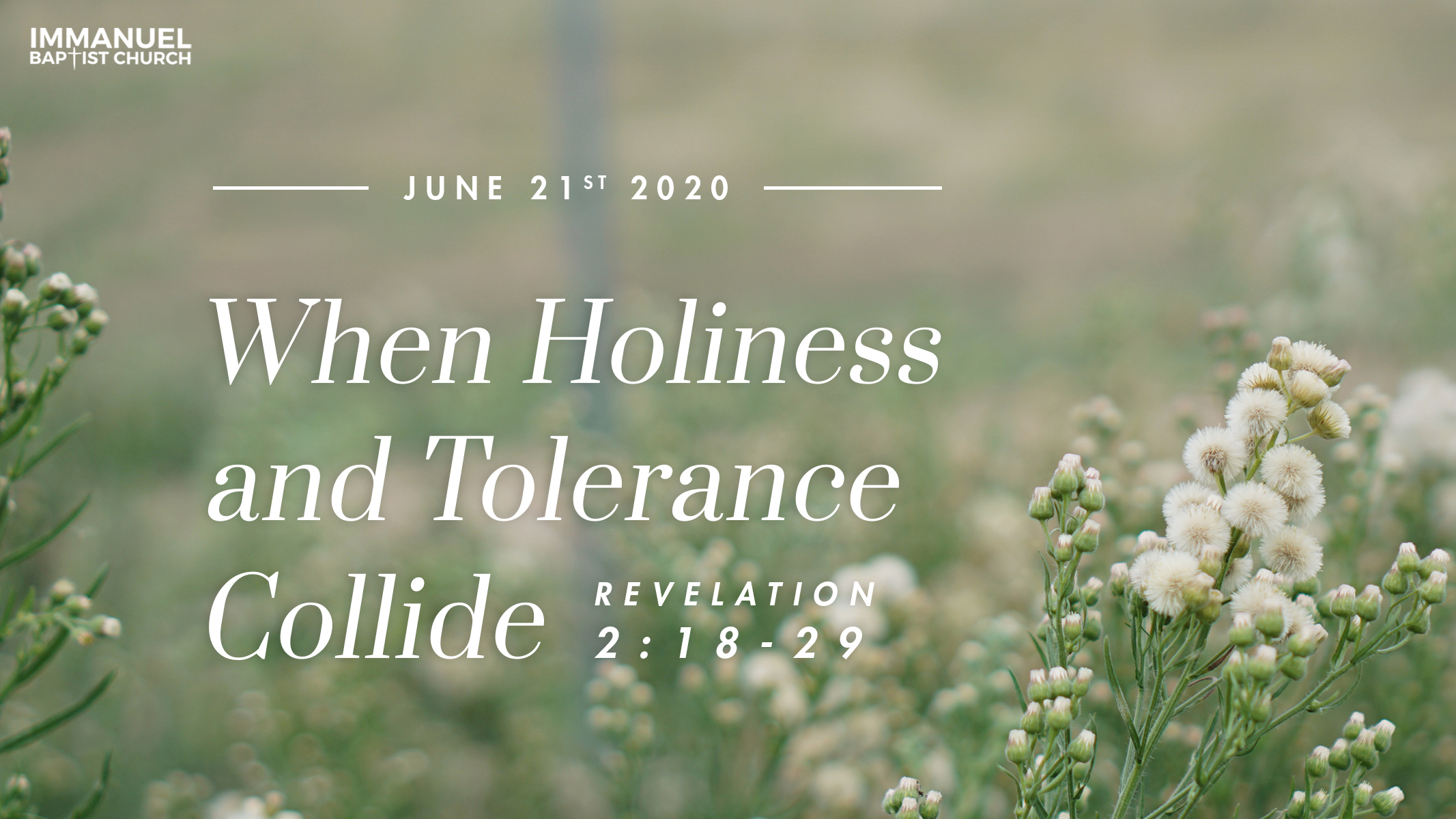 When Holiness and Tolerance Collide