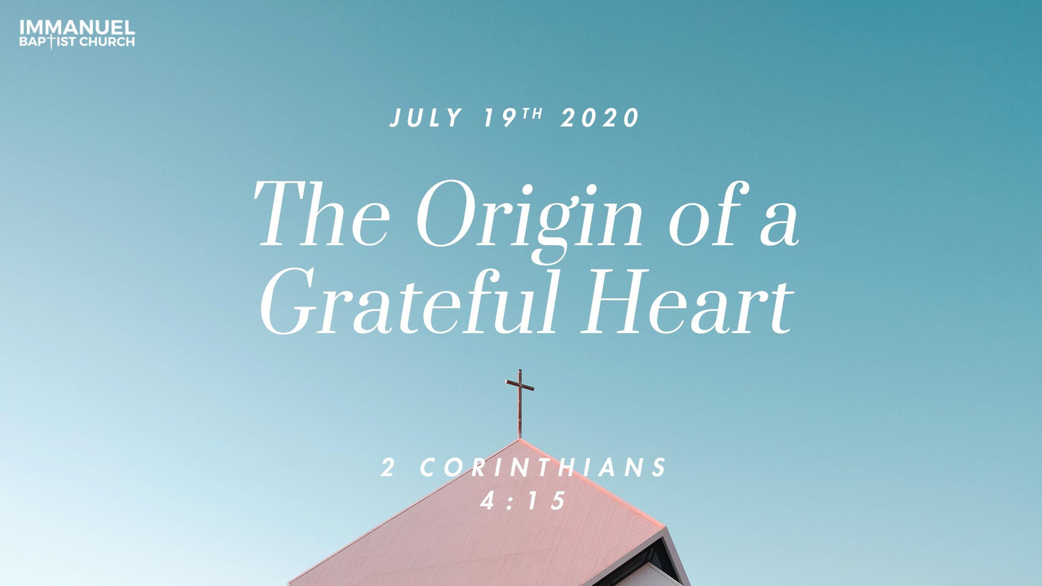 The Origin of a Grateful Heart Image