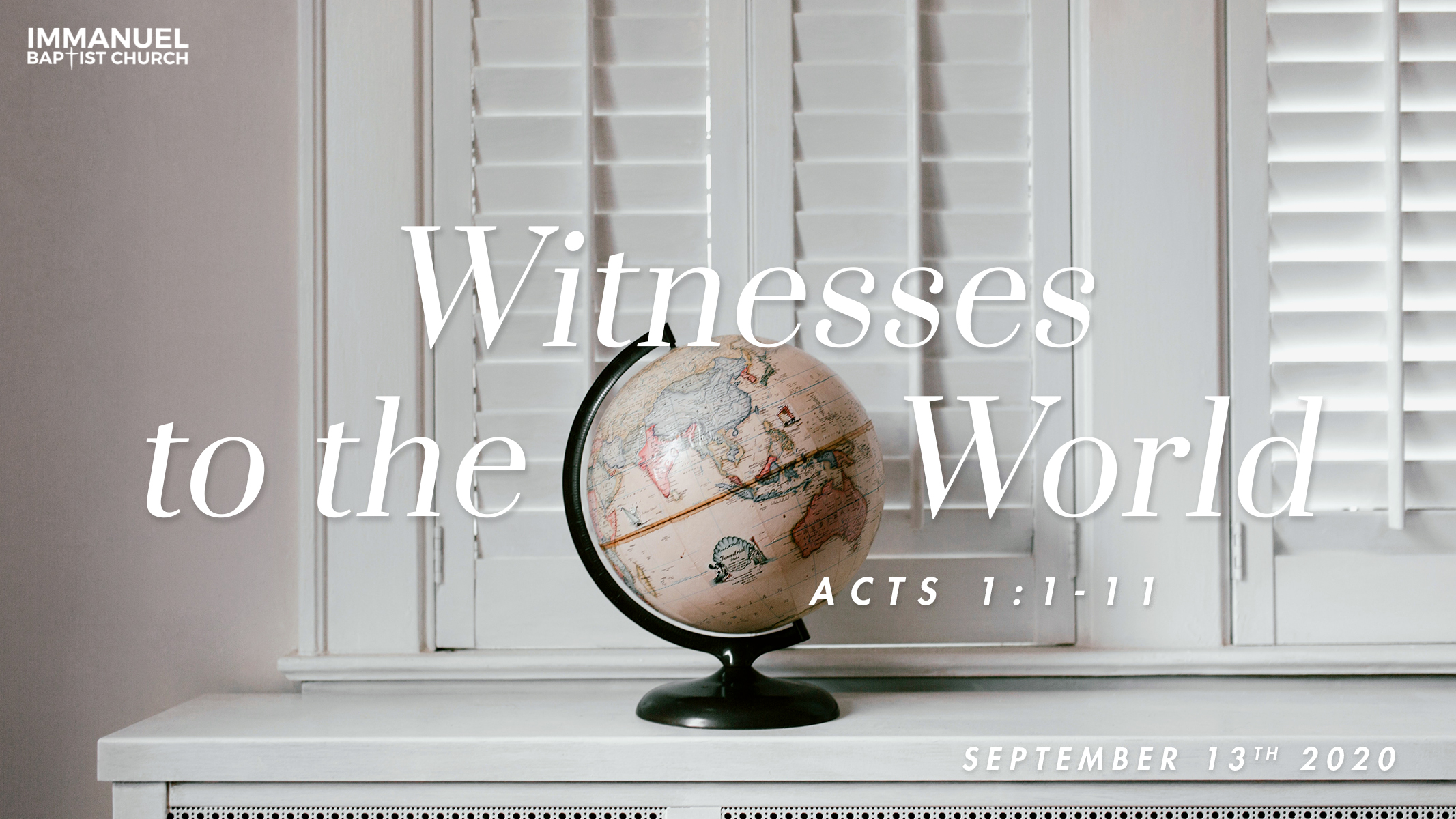 Witnesses to the World