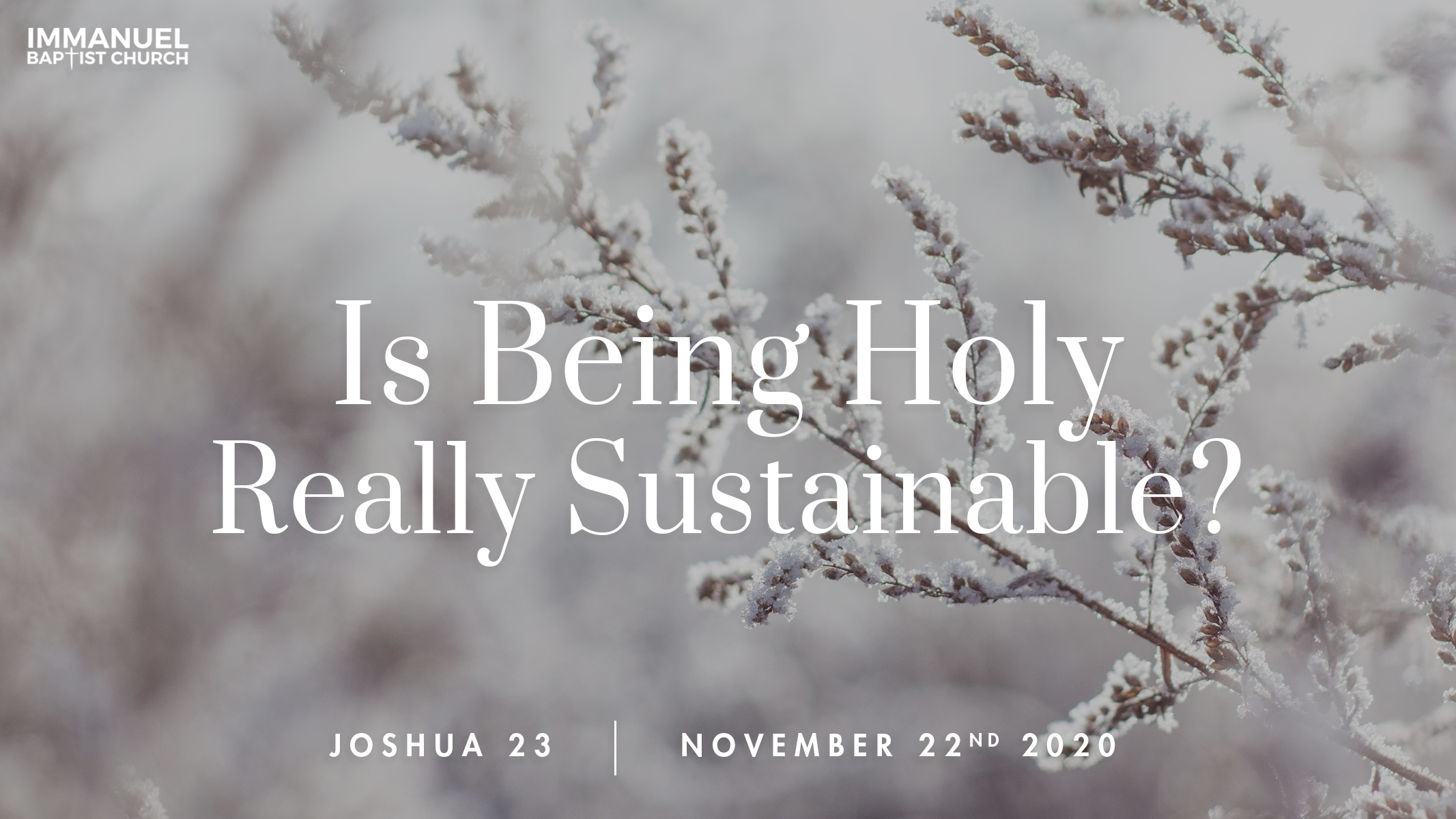Is Being Holy Really Sustainable? Image