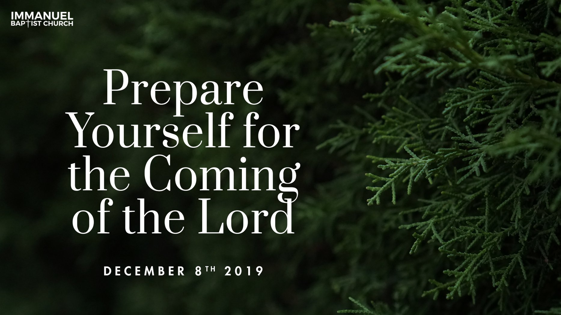 Preparing Yourself for the Coming of the Lord