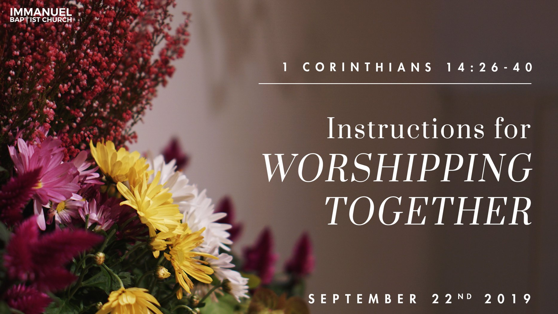 Instructions for Worshipping Together Image