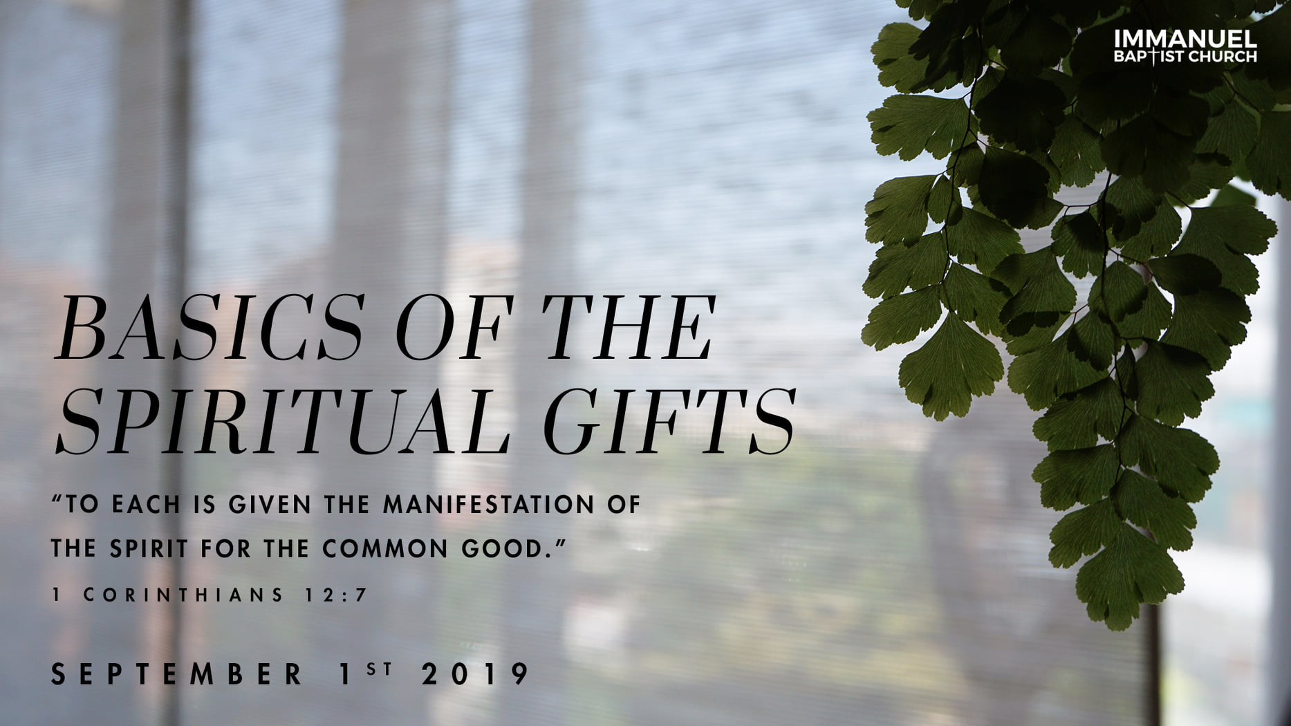Basics of the Spiritual Gifts