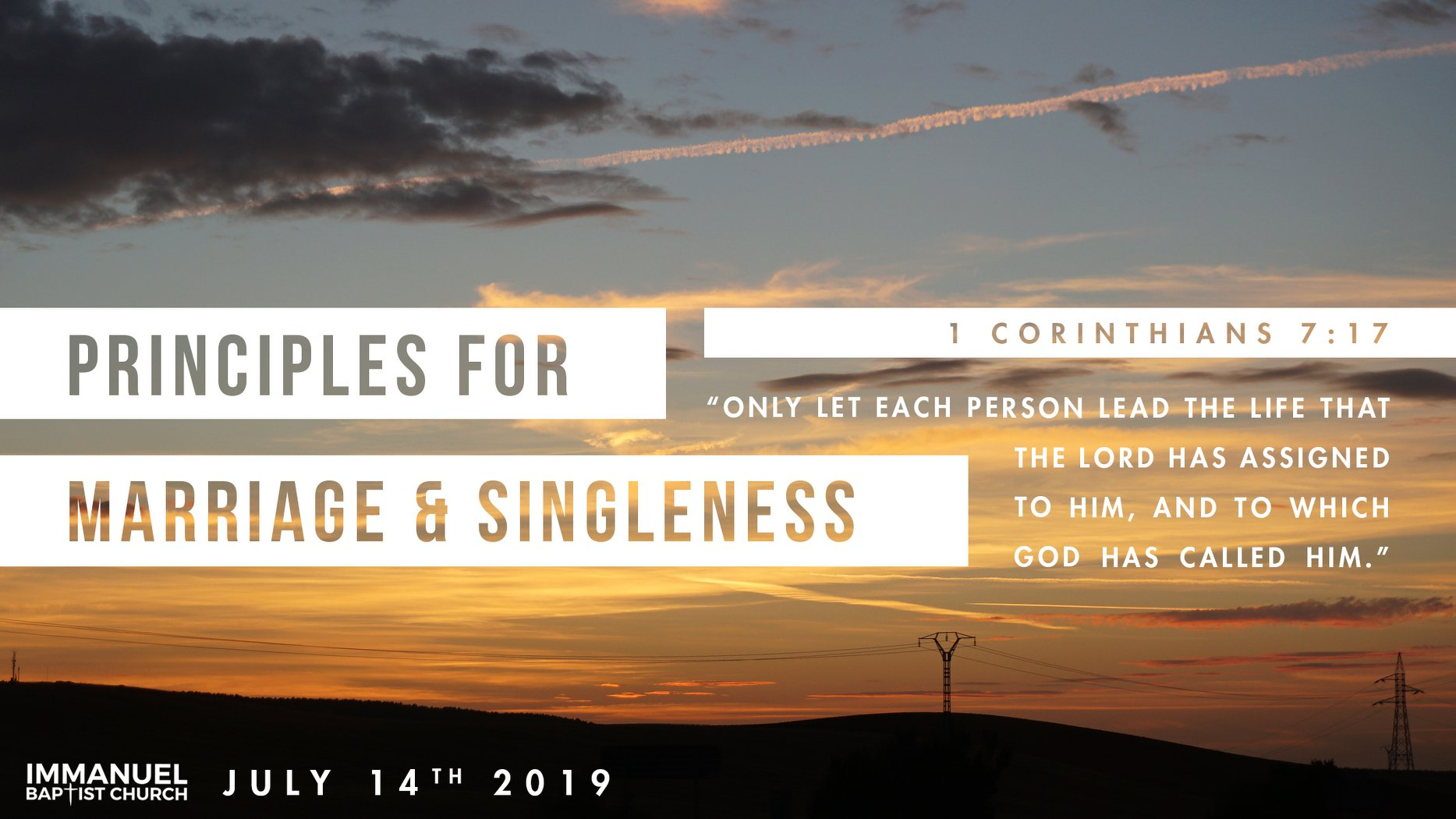 Principles for Marriage & Singleness