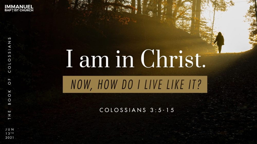 I Am in Christ. Now, How Do I Live Like It? - Colossians 3:5-15 Image